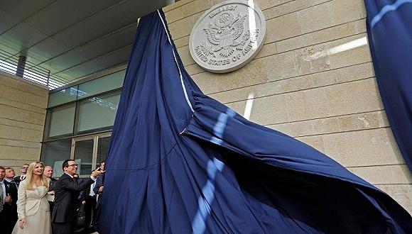 5月14日,耶路撒冷,美国驻以色列新使馆开馆仪式举行,伊万卡出席。来源:视觉中国