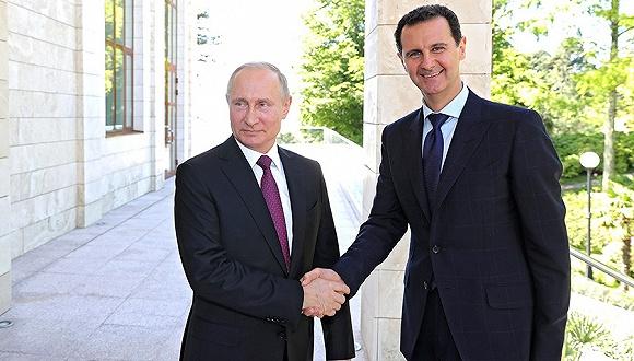 阿萨德突访俄寻求支持 普京:外国武装应撤出叙利亚