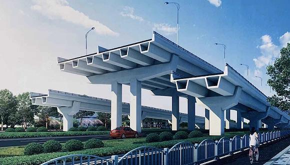主线高架、地面辅路,两港大道快速化先行工程开工