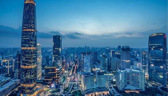 广州市夜景。图片来源:视觉中国