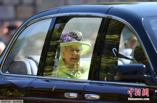 资料图:英国女王伊丽莎白二世。