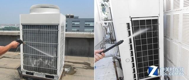 中央空调室外机的清洁