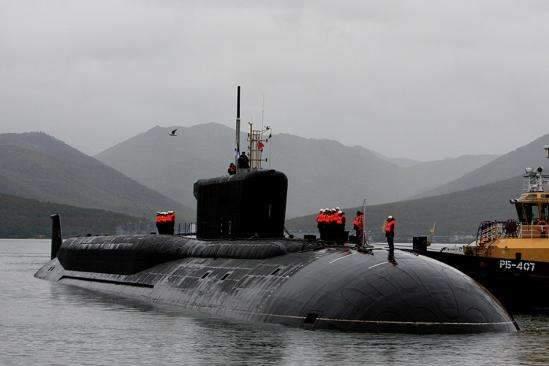 图为俄罗斯北风之神级核潜艇