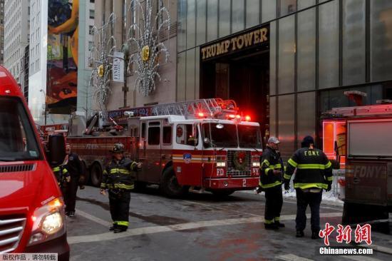 特朗普大楼火灾原因查明 系用电过载致电线起火