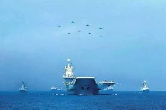 辽宁舰参加海上大阅兵