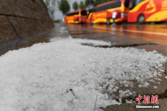 北京发布冰雹黄色预警 将出现分散性冰雹天气