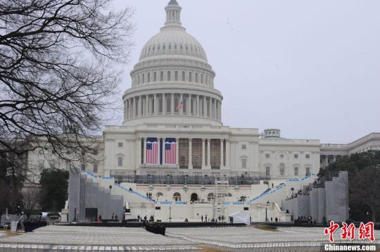 资料图:美国国会大厦。中新社发 吴庆才 摄