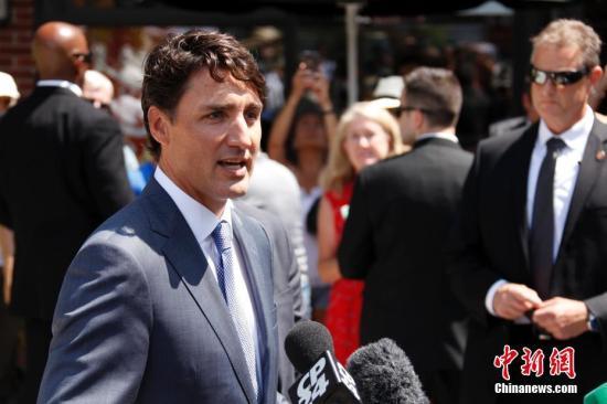 资料图片:加拿大总理贾斯廷·特鲁多。 中新社记者 余瑞冬 摄