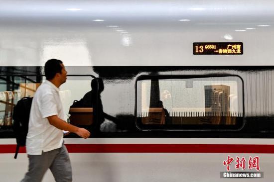 广深港高铁开通 铁总:内地香港高铁实现互联互通