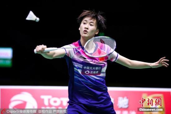 资料图:陈雨菲在比赛中。 图片来源:Osports全体育图片社