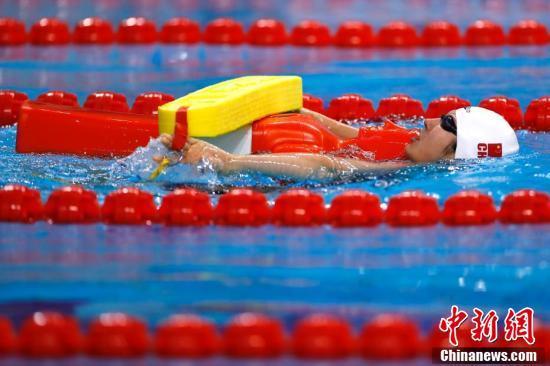 武汉军运会游泳(水上救生)赛在武汉五环体育中心举行