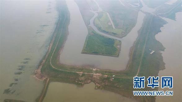 夏顺安建造的矮围一角(5月10日无人机航拍)。 新华网 资料图