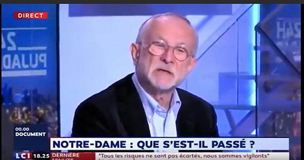 本傑明·穆棟接受法國電視臺採訪。視頻截圖