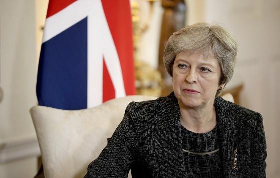 英国首相特蕾莎·梅资料图 (图源:英国《每日电讯报》)