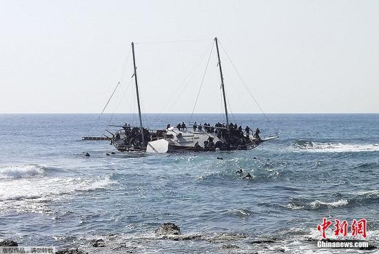 一移民船与希腊海岸警卫队巡逻艇相撞 已致1死6伤