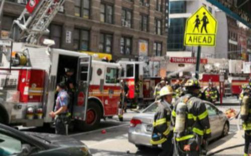 美国曼哈顿一华人理发店因火灾受损 无人员伤亡