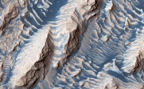 """你从没看过的火星!就像""""奶油曲奇饼""""(图)火星NASA"""
