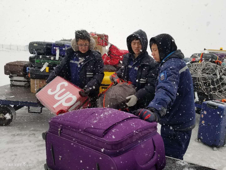 长白山机场全力做好冰雪天气航班保障工作
