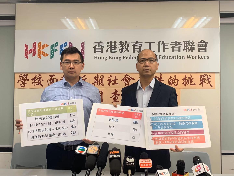 香港教联会主席:学校已成为政治