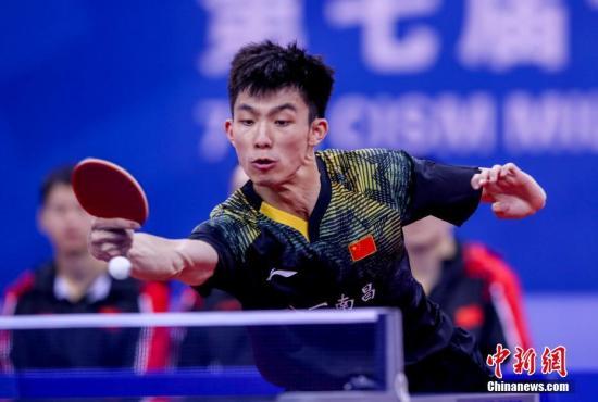 中国八一队击败朝鲜队斩获乒乓球男子团体赛冠军