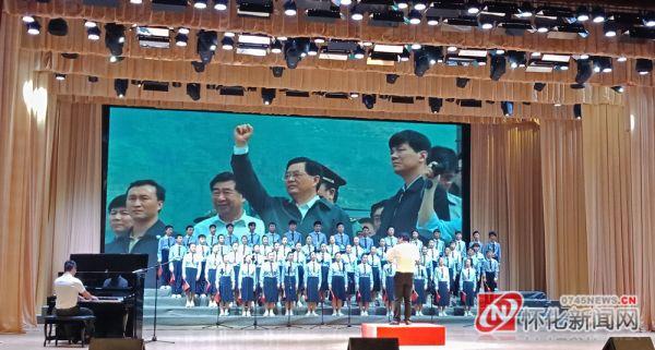 会同林城镇中学在县建制班合唱大赛中斩获一等奖