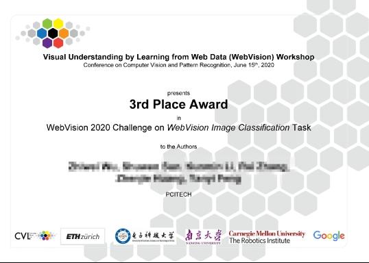 """人工智能""""世界杯""""再创佳绩!佳都科技荣获WebVision2020图像分类竞赛全球第三名"""