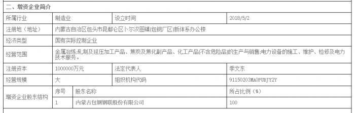 拆解包钢债转股 首批五大行AIC、东方资产参与77亿