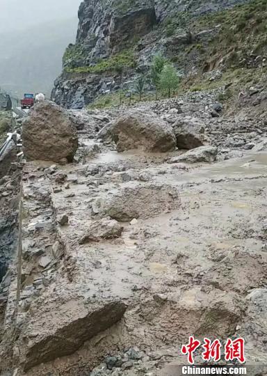 图为泥石流灾害现场。 仁布县公安局供图