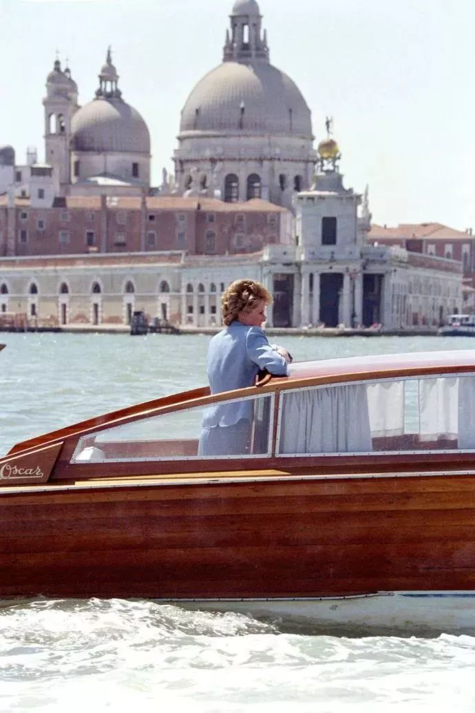 On a boat ride during a visit to Venice, Italy,1995