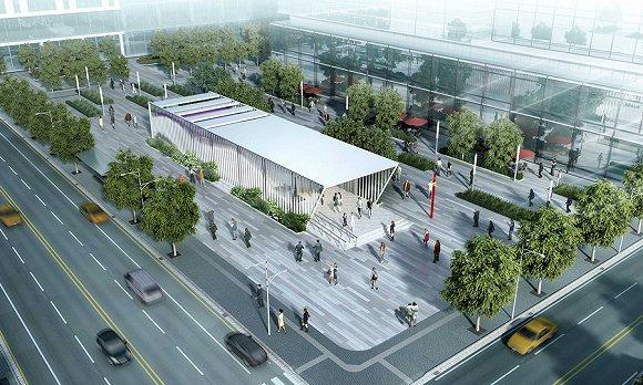 站外安检房设计图,来源:广州市设计院