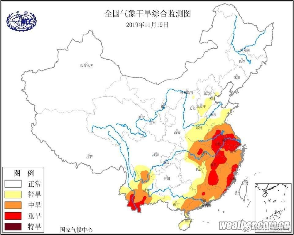 长江中下游等地仍有大范围气象干旱,周日起小雨润旱区