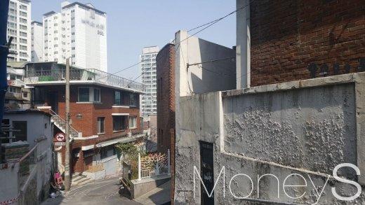 首尔市的一处住宅区