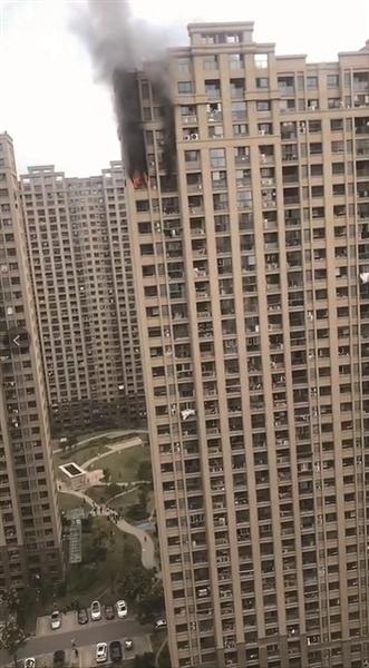 浦口一高层居民楼 发生火灾无人员伤亡