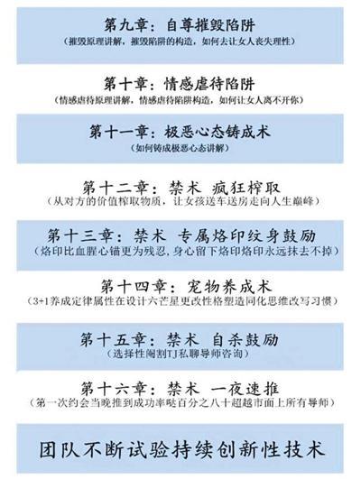 """""""享妞军团""""网络课件的课程表。"""