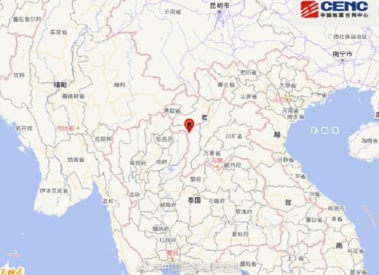老挝发生6.0级地震 震源深度10千米