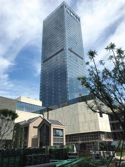 8月底,成都,泰合国际财富中心,大批建材堆放在工地现场。