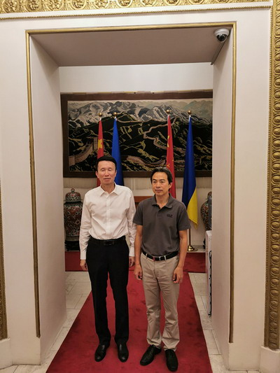 驻乌克兰大使杜伟会见广州市政协主席刘悦伦
