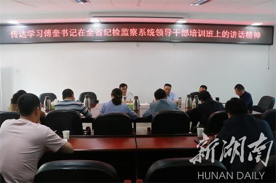 慈利县纪委监委召开专题会议集中学习了哪些?