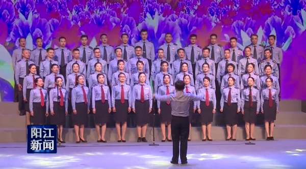阳江市场监管系统举行《市场卫士》歌咏比赛