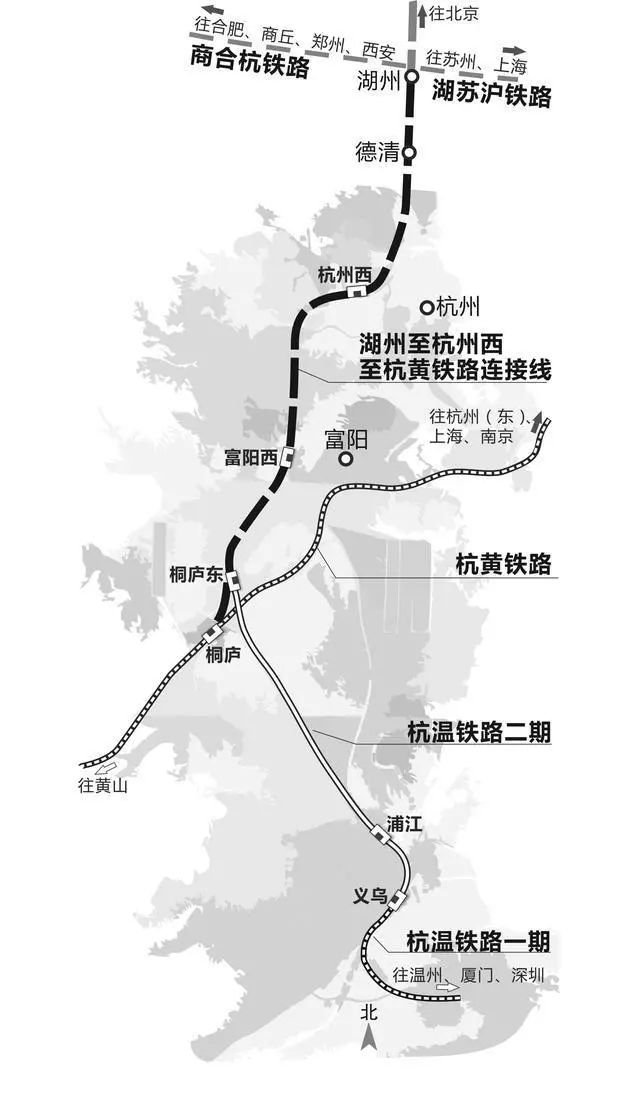 湖州至杭州高铁获批:时速350公里,新设杭州西站