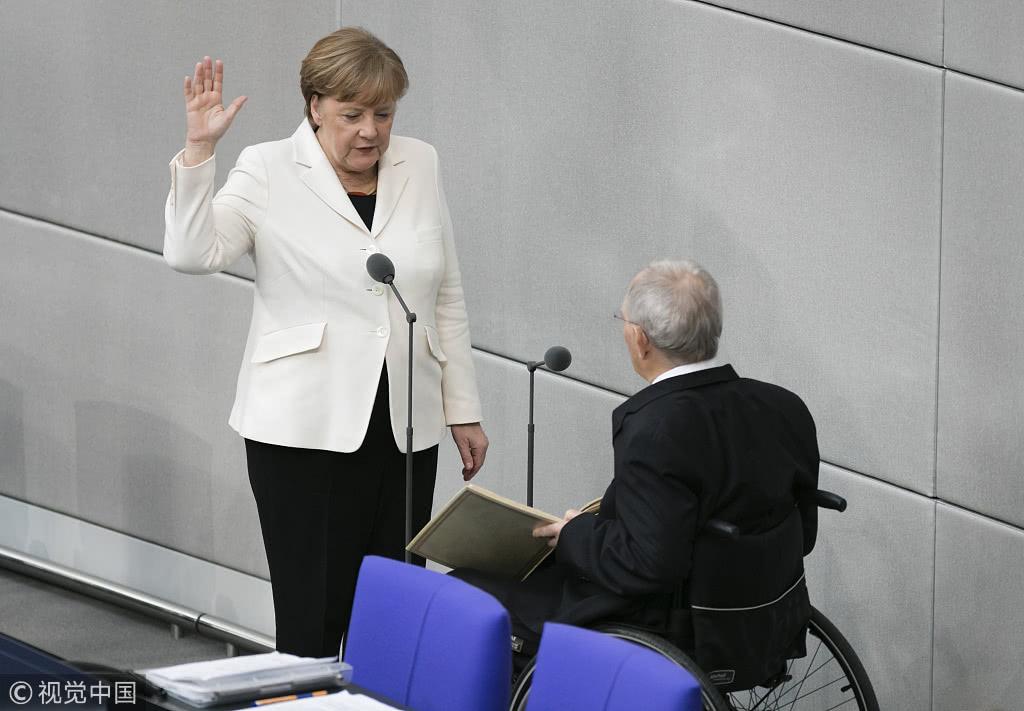默克尔连任德国总理,3月14日宣誓就职 @视觉中国
