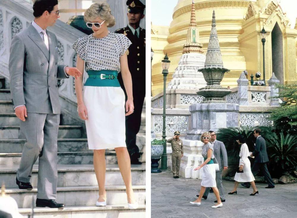 Prince Charles & Princess Diana in Bangkok, Thailand,1988