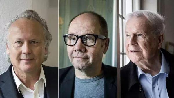 ▲辞职的三名瑞典文学院院士(图片来自纽约时报英文网站)