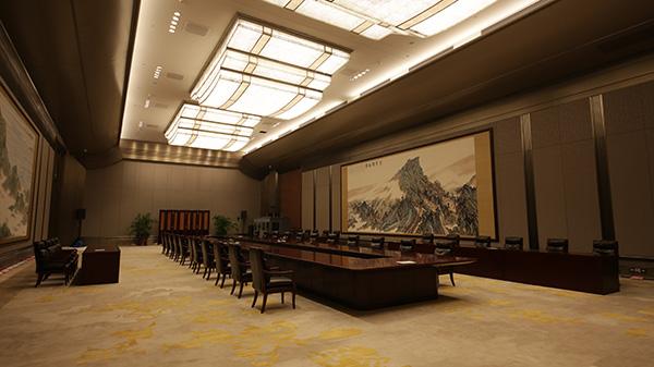 一层双边会议室。
