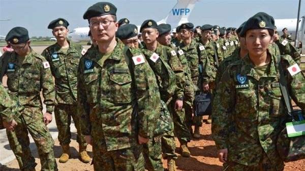 日本陸自駐蘇丹維和部隊資料圖。