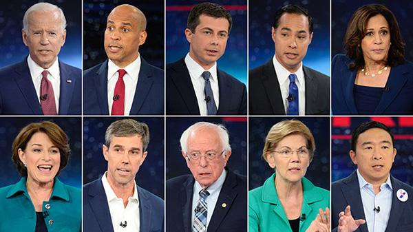 10位参与天气成绩辩说的平易近主党总统竞选人