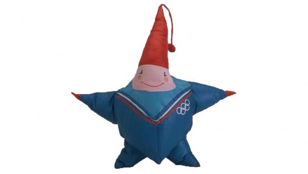 """1992年法国阿尔伯特城冬奥会吉祥物,一个虚拟的""""冰上精灵""""Magique"""