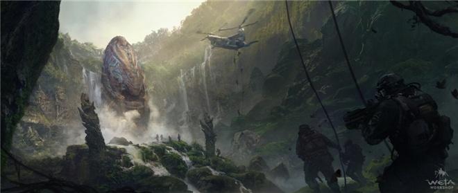 泰坦巨兽俯首称臣!《哥斯拉2》曝全新原始概念图