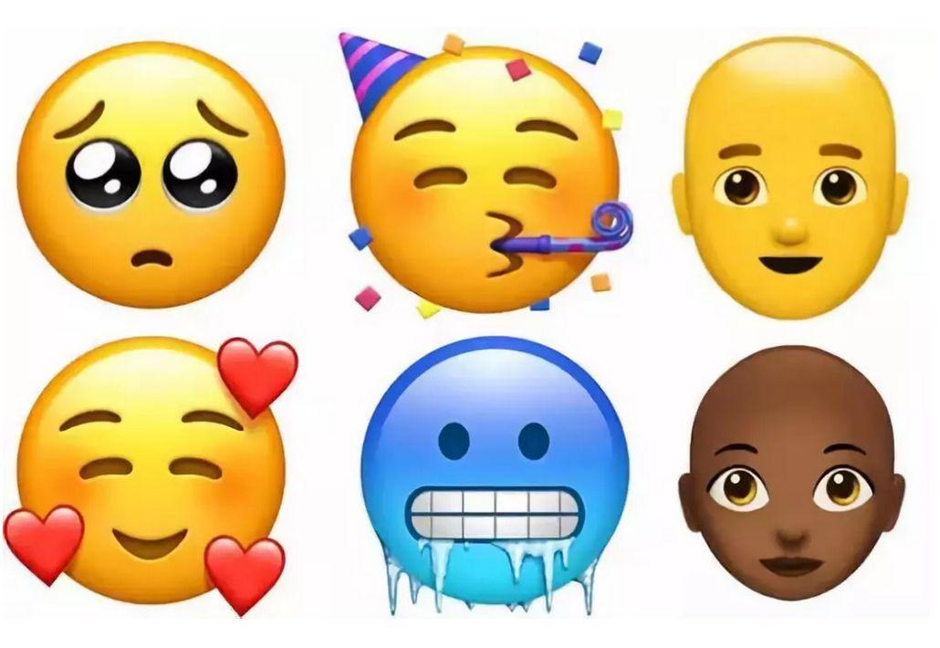 苹果发布全新emoji表情超70个,竟有人用其画出明星的脸!图片