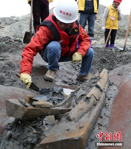 """""""江口沉银遗址""""考古发掘现场。 刘忠俊 摄"""